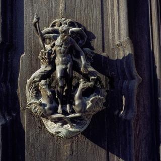 doorknocker, Venice, Italy, Europe