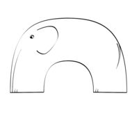 simplified elephant.eps