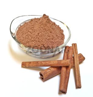 sweet cocoa and cinnamon