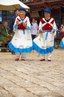 Lijiang Old Town Naxi Women Dance Traditional Garb