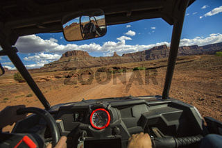 POV off roading in vehicle