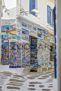 Shop Selling Postcards Mykonos Cyclades Greece