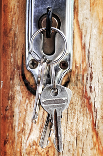 Keys in lock