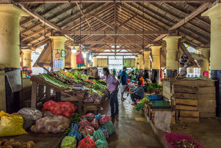 Small business in the historical Dutch Market of the city Galle in the south of Sri Lanka