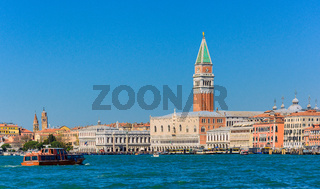 San marco square on a sunny day in Venice,Italy 2015 April