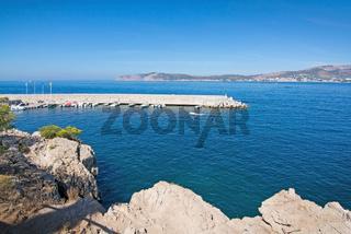 Pier and inlet to Santa Ponsa Nautical club