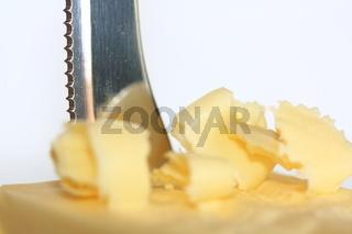 Streichzarte Butter mit Messer