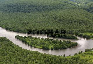 River Zhupanova. Kronotsky Nature Reserve on Kamchatka Peninsula.