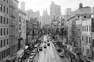Black and white image of East Broadway