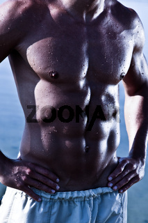 Closeup Photo Of A Sensual Muscular Man Torso