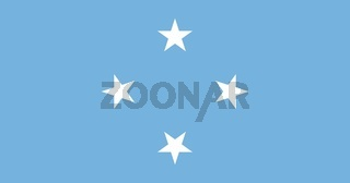 The national flag of Micronesia