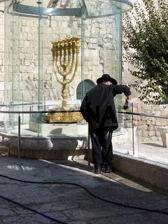Goldene Menorah in Jerusalem