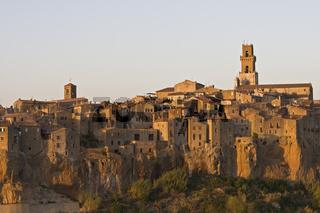 Pitigliano alte Tuffsteinstadt, Toskana, Italien, Europa, Pitigliano city on Tuff rock, Tuscany, Italy