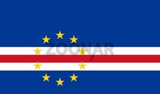 The national flag of Cape Verde