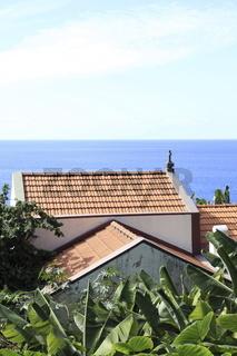 kleine Kapelle in Bananenplantage auf Madeira