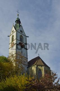 Stadtkirche St. Johann Laufenburg, Kanton Aargau, Schweiz