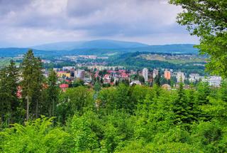 Trutnov im Riesengebirge - the town Trutnov in Giant Mountains in Bohemia