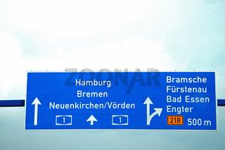 atobahnschild hamburg,bremen, neunkirchen-voerden,bramsche,füuerstenau