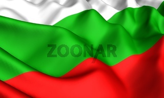 Flag of Bulgaria. Close up. Front view.
