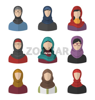 Middle Eastern People Icons