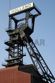 Hoist frame in the former mine Holland