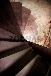 Old Spiral Stairways in Castle