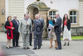 Prinz Charles im Mai 2013 zu Besuch bei Verwandtschaft auf Schloss Langenburg