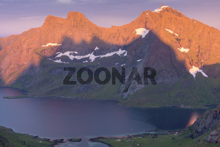 Abendstimmung, Forsfjorden, Moskenesoeya, Lofoten