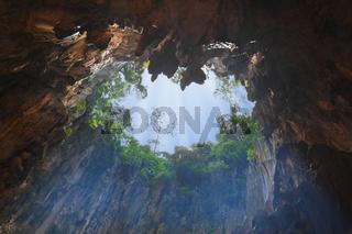 Hole in Batu Cave at Kuala-Lumpur