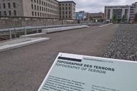 Ausstellung Topographie des Terrors auf dem Gelaende der ehemaligen SS Zentrale, Berlin, Deutschland |Topography of Terror, exhibition on the grounds of the former SS headquarters, Berlin, Germany
