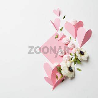 Empty copyspace valentine card