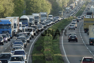 Berufsverkehr A57 rush-hour traffic germany