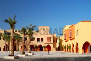 city square in El-Gouna, Egypt