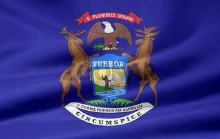 Flagge von Michigan - USA