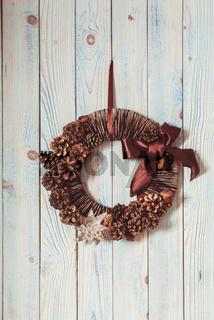 Natural eco Christmas wreath