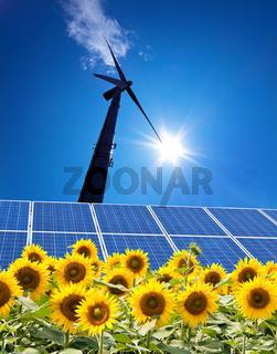 Windenergie-Alternative Strom Energie durch Windrad