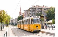 Old tram in Budapest, Hungary