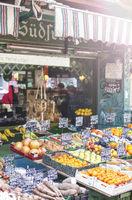 Fresh fruits at the popular Naschmarkt of Vienna