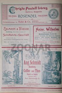 Adressbuch Hamburg-Altona Jahr 1900