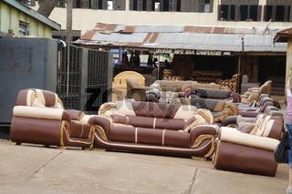 Möbelausstellung Ghana