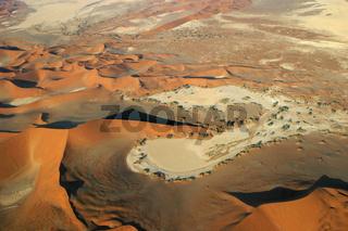 Flug ueber das Sossusvlei, Namibwueste, Namib Wueste, Namibia, Afrika, flight above Namib Desert, Africa