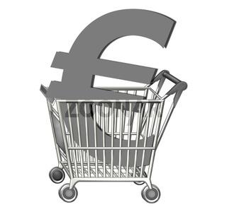 Einkaufswagen Euro
