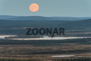 Mondaufgang, Muddus, Lappland