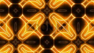 Fractal orange kaleidoscopic background