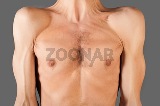 Part of skinny male torso