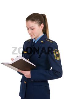 girl in uniform