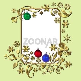 weihnachtlicher Rahmen Illustration
