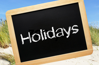 Holidays at the Beach - Summer Concept