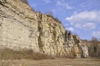 Muschelkalksteinbruch in Neckarrems