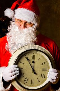 Santa with clock
